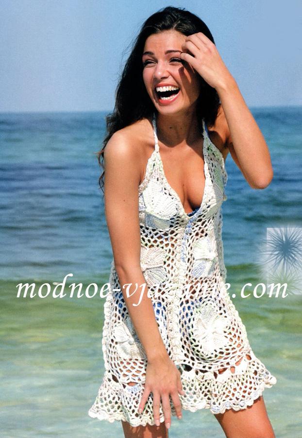 Вязаные крючком пляжные платья и юбки
