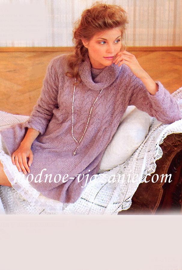 Модное вязание из мохера спицы